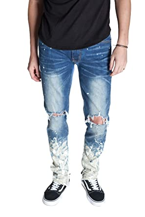 Black Jeans With White Splatter Paint