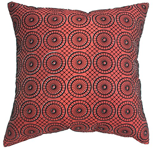 (Avarada Circular Twinkle Checkered Decorative Throw Pillow Covers Case Cushion Cover 16x16 inch for Sofa Couch Chair Bed Back Zipper Insert Not Included Handmade Quality)