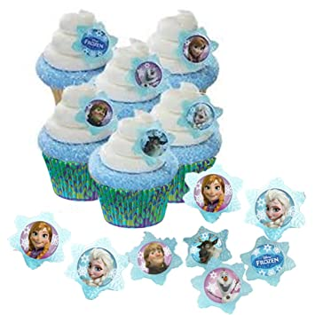 Amazoncom 24 Disney Frozen Cupcake Rings 24 Baking Cups