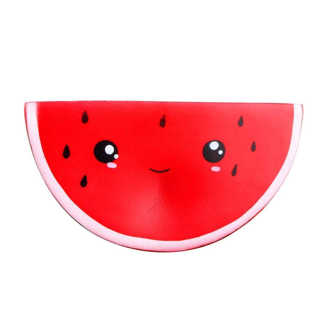 ALISIAM Squishy Mignon Smiley pastèque crème Squeeze Jouet Lente Rising décompression Jouets Rouge)