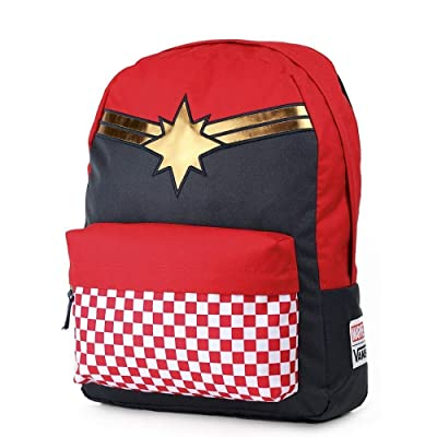 Vans CAPTAIN MARVEL Backpack Racing Red Schoolbag VN0A3QXFIZQ Vans MARVEL Bags | Kids' Backpacks