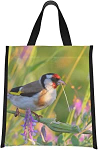 Cooler Bags European Goldfinch Carduelis Bird Cooler Insulated Bag Adult Lunchbags Reusable, Foldable Keeps Food Hot/cold For Women,men,school,office