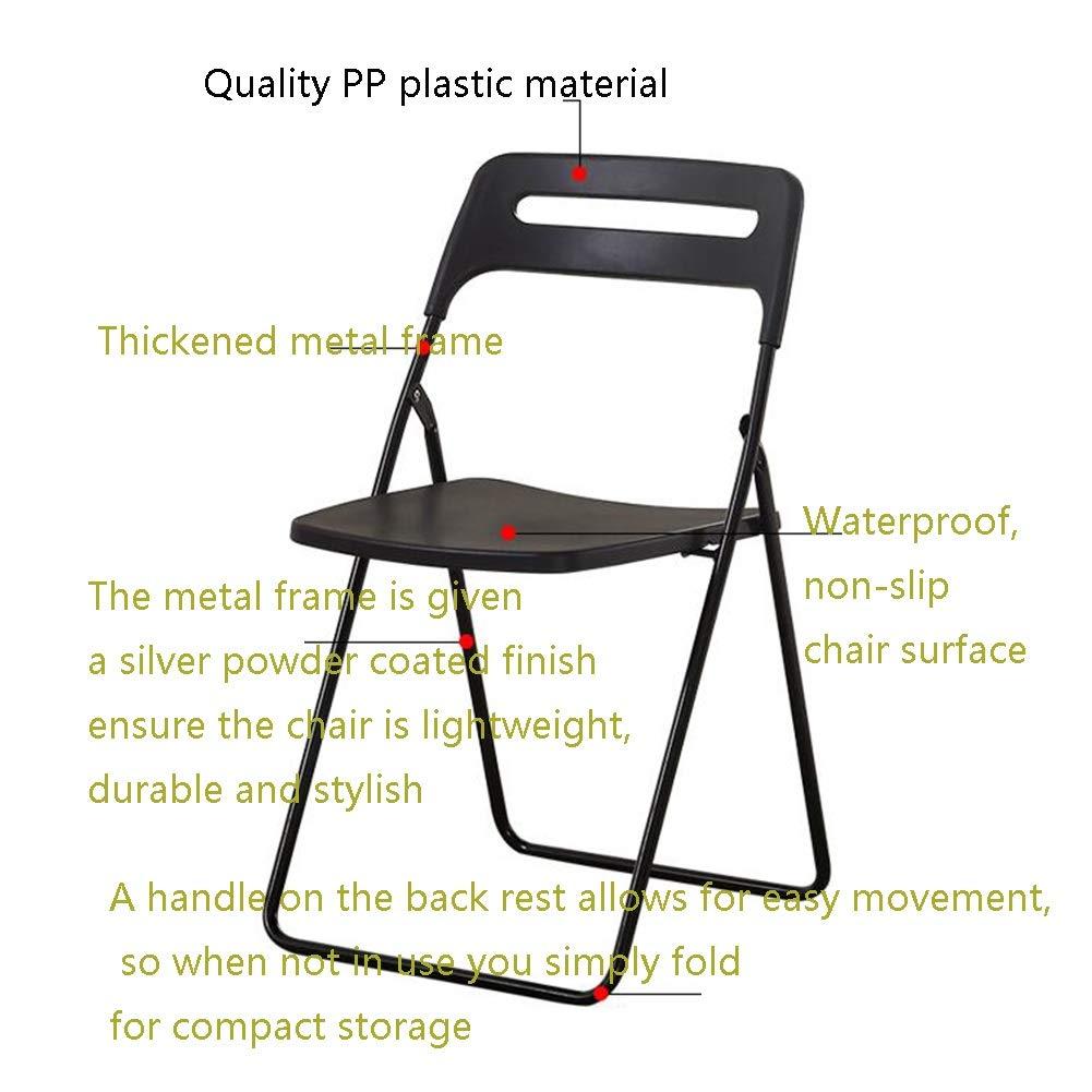 ZPWSNH Silla Plegable con Capacidad para Muebles de plástico