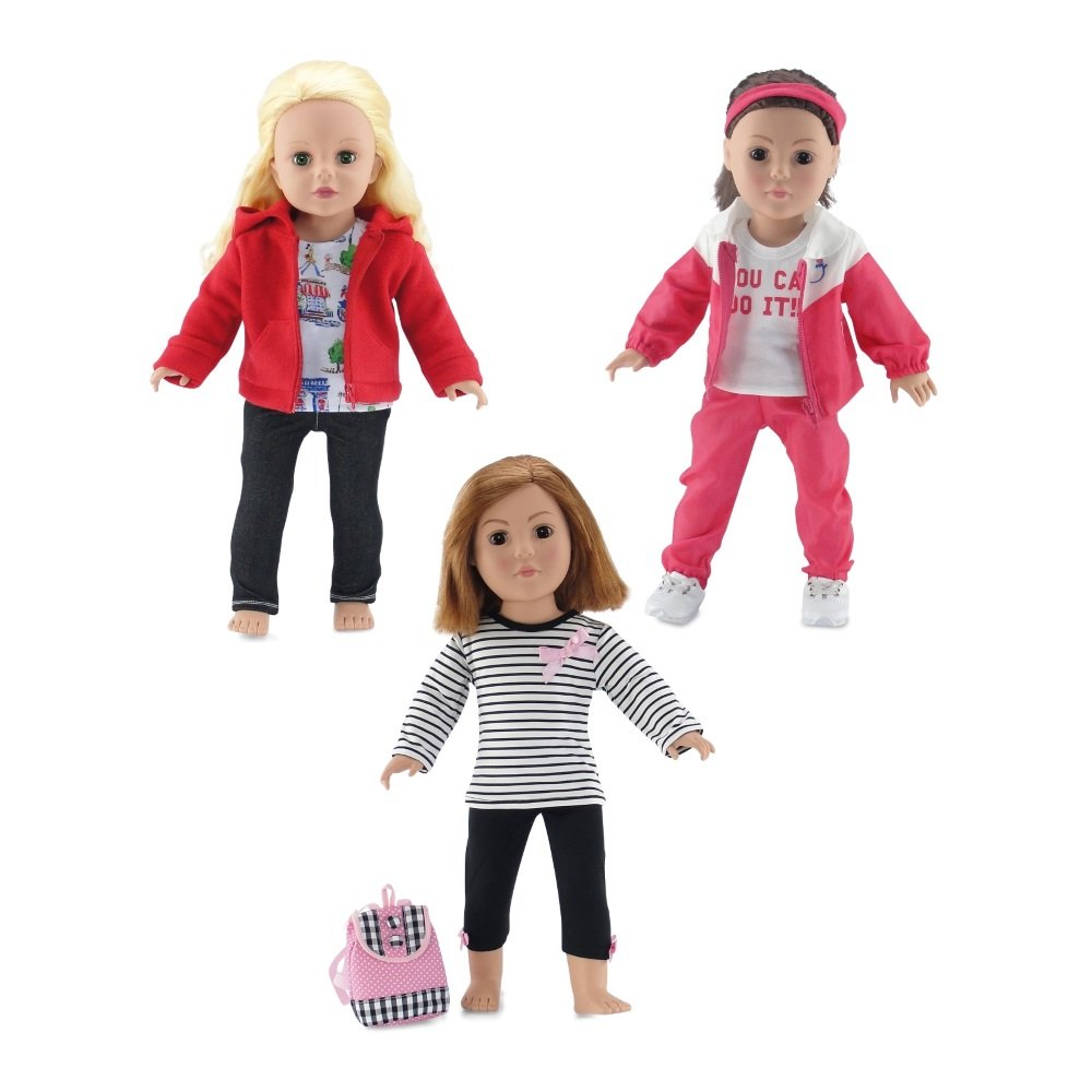 f235cf5acfa936 Made to fit 18 Inch dolls such as American Girl, Madame Alexander, Our  Generation, Gotz, etc. Gift-Boxed! Packaged in classy pink gift box with  Emily Rose ...