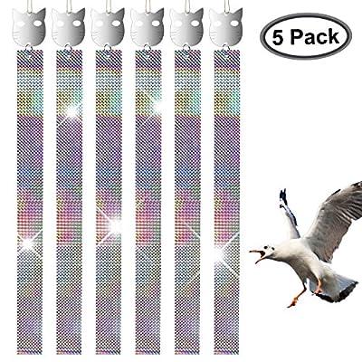 FDWOPHT Bird repellent,Efficient Spiral Bird Deterrent Device Reflect Light to Scare birds Away, Repel Birds,New Bird contral Better than Rods,Spikes,Bird Repeller -Set of 5 …