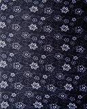 Multifonction Foulard Écharpe tube de cou fleurs noir blanc