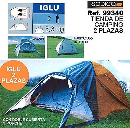 Sini Tienda DE Camping 2 Plazas: Amazon.es: Hogar