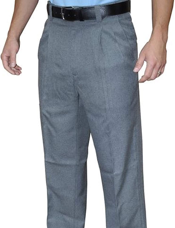 Pleated Base Pants Smitty Baseball Softball Umpires Choice! BBS-370 Heather Grey