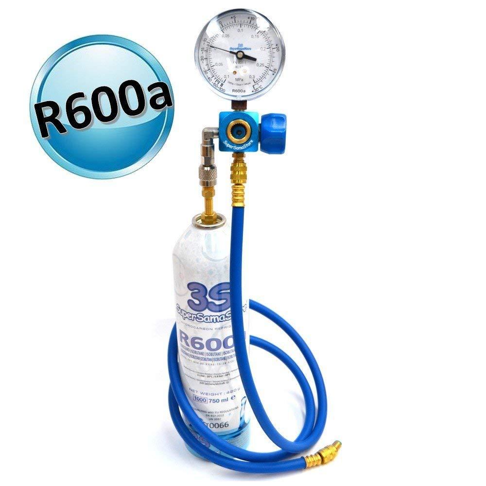 R600A NR 4 BOMBOLE GAS REFRIGERANTE 420 GR x RICARICA FREEZER FRIGO CONGELATORE