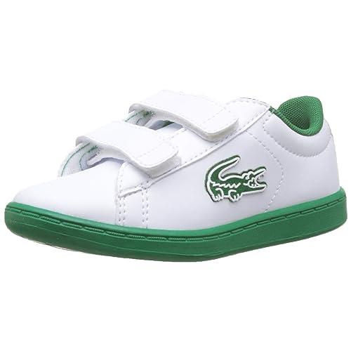 Lacoste Carnaby EVO 319 1 SUI Zapatillas Unisex Niños Blanco White Green 082 24 EU