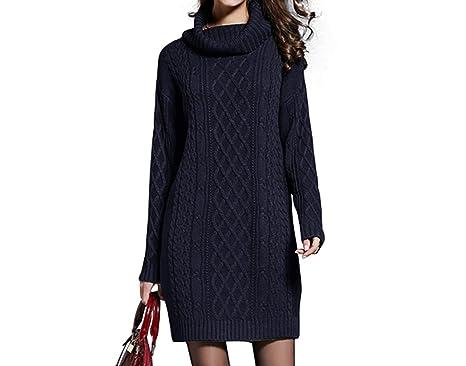 6235619d333 Angelato Winter Sweater Dress Plus Size Women Long Sleeve Turtleneck White  Mini Knitted Dress Lady Sweater