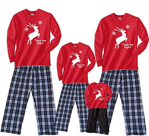 Leaping Reindeer Red Shirt Pant Set - Youth