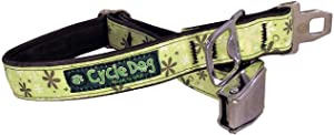 Cycle Dog Collar Flower Apple Green Bottle Opener Metal Buckle Fatty Large