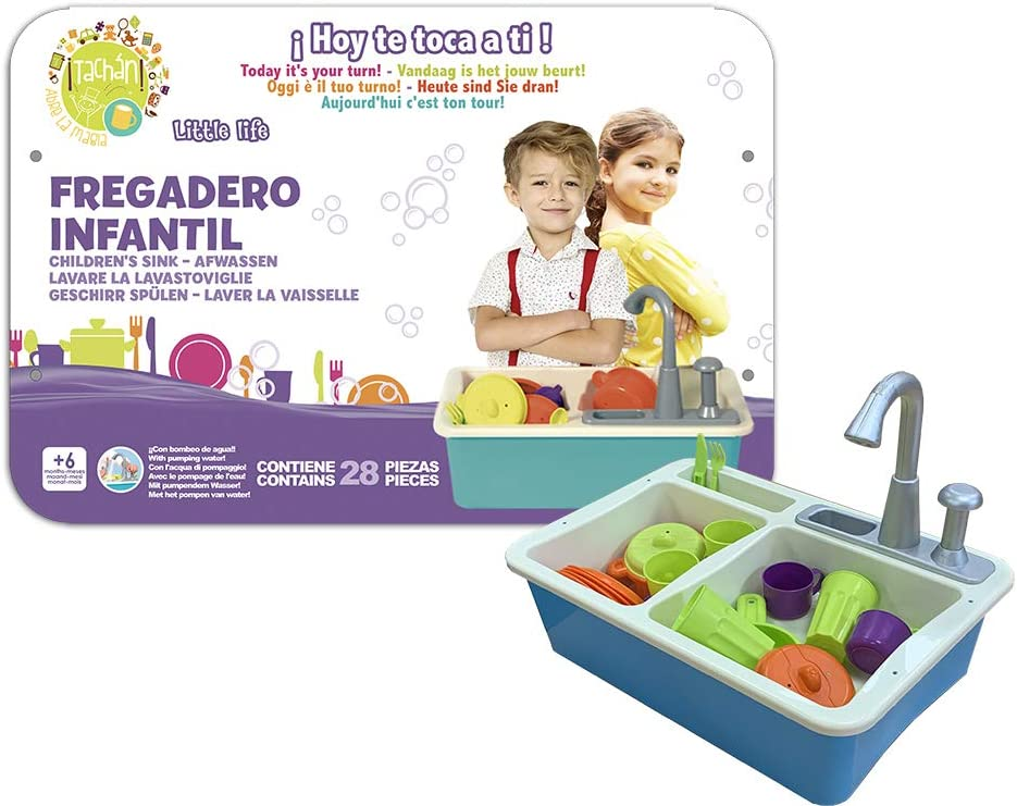cpa toy group trading s.l. – Children's Sink with Water Pump, Blue (CPAToy Group, S.L. 77877)
