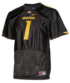 Nike Missouri Tigers Juventud Negro Malla # 1 de fútbol réplica de la Camiseta, Negro: Amazon.es: Deportes y aire libre