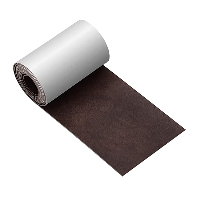 Leather Tape 3X60 Inch Self-Adhesive Genuine Leather Repair Patch for Sofas, Couch, Furniture, Drivers Seat(Dark Brown)