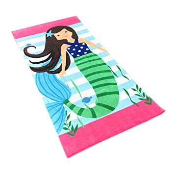 CIFFOST Toalla de baño con Capucha Playa 100% algodón Super Suave niños Toalla natación niñas niños 80cm: Amazon.es: Deportes y aire libre