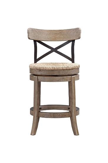 boraam myrtle counter height stool 24inch wire brush