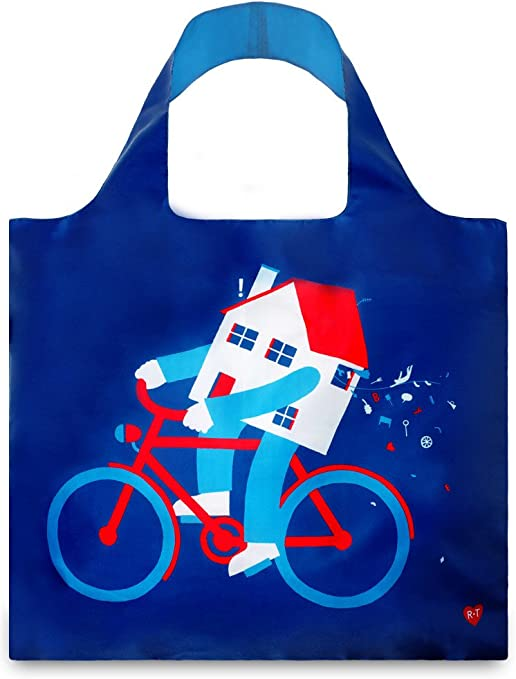 LOQI QUALITY REUSABLE FOLDABLE SHOPPING BAG POUCH POCKET GROCERY BEACH RYAN TODD