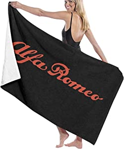 C-JOY Unisex Alfa Romeo Beach Towels Absorbent Pool Towel Bath Towel Travel Towel Washcloth 31x51 Inches