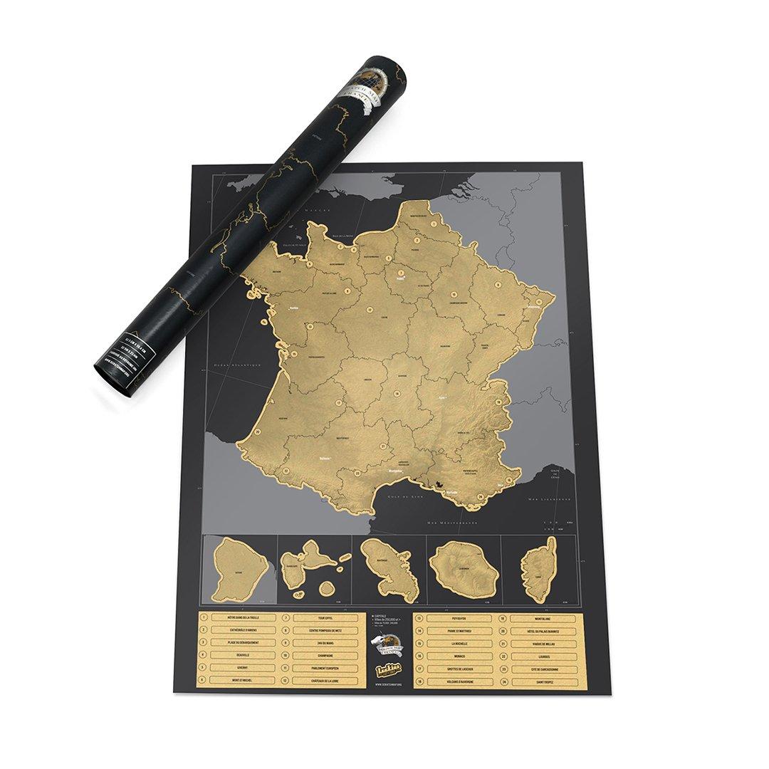 Carte de France à Gratter, Poster de la France Luckies of London LUKFR