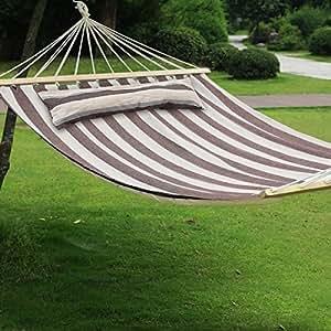CASART Hamaca portátil para dos personas, para viajes, camping, jardín, etc.