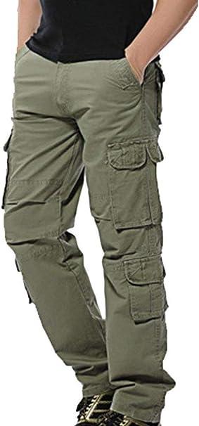 Lanceyy Pantalones De Carga De Los Primavera De Hombres Larga Simple Estilo Otono Pantalones Casuales Chino Pantalones De Tela Delgada De Trabajo Pantalones De Trabajo Bolsillos Pantalones De Carga Amazon Es Ropa Y