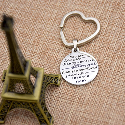 O.RIYA You Are Braver Than You Believe Necklaces / Keyring (Brown)