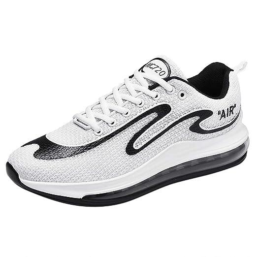 Realike – Zapatillas de correr para hombre, modernas, Graffiti, ultraligeras, para correr, correr, deportivas, transpirables, deportivas, para gimnasio y fitness para hombres, (EU)41, Blanco, 1: Amazon.es: Industria, empresas y ciencia