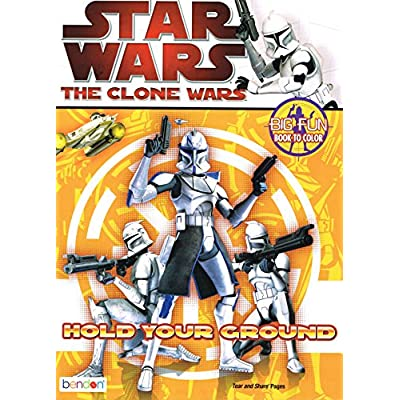 Star Wars The Clone Wars Coloring Book (Multiple Cover Art): Toys & Games