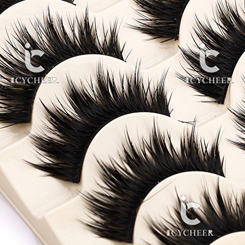 Thick-5-Pairs-Makeup-Natural-False-Eyelashes-Eye-Lash-Long-Black-Handmade-Soft