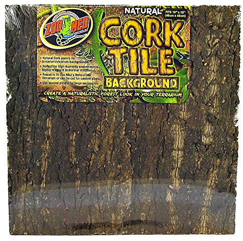 Zoo Med Natural Cork Tile Background, 18 x 18-Inches (Zoo Background)