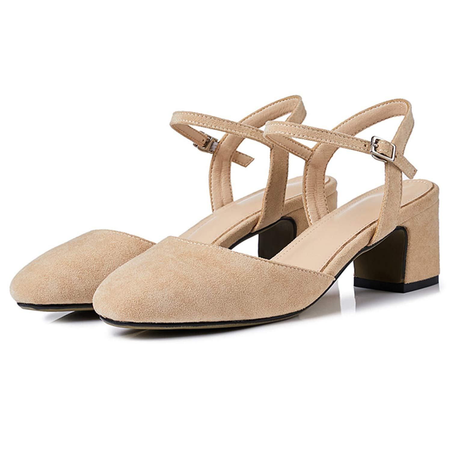 3-203 Apricot shoes Cover Square Toe Sexy Slingback Summer shoes for Women Sandal