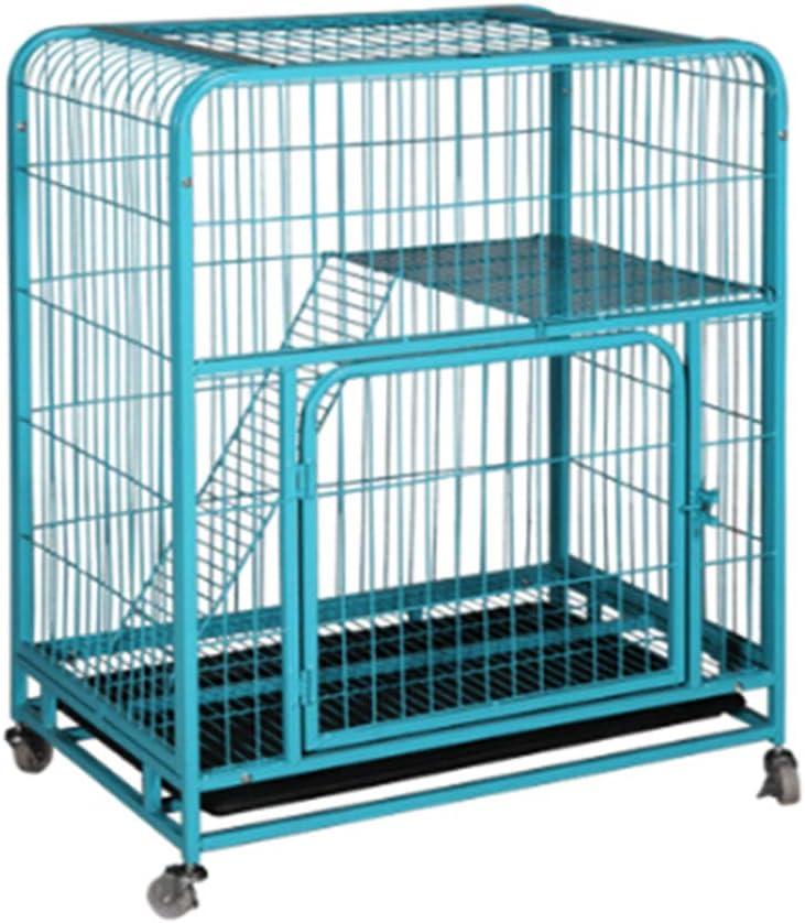 QNMM Cat Cage Home Interior con Cat Door Bricolaje Compartimiento Doble 3 O 4 Niveles Gran Tamaño Cat Villa Cage Jaula De Animales Pequeños para Hurón Squirrel House Cat Bunny Chinchilla Conejillo De