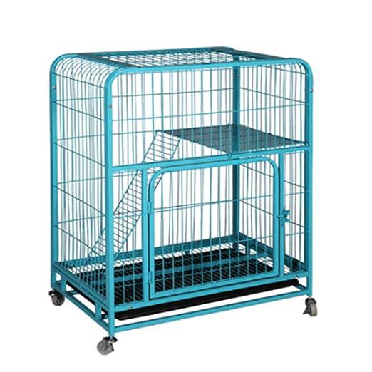 QNMM Cat Cage Home Interior con Cat Door Bricolaje Compartimiento ...