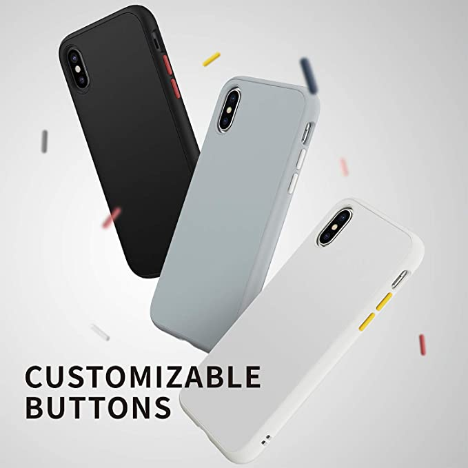 brand new 6a655 ea80b RhinoShield Full Impact Protection Case for [ iPhone X ], SolidSuit Series,  Military Grade Drop Protection, Supports Wireless Charging, Slim, Scratch  ...