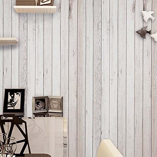 Wopeite Wood Grain Contact Paper Self-Adhesive Decorative Shelf Drawer Liner Door Stick Light Brown Decoration Living room Bedroom 45 X 1000 CM (Liner Paper Wall)