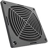 Aerzetix - Griglia di protezione nera 120 x 120 mm ventilazione con filtro antipolvere per ventilatore della COMPUTER PC C15111 .