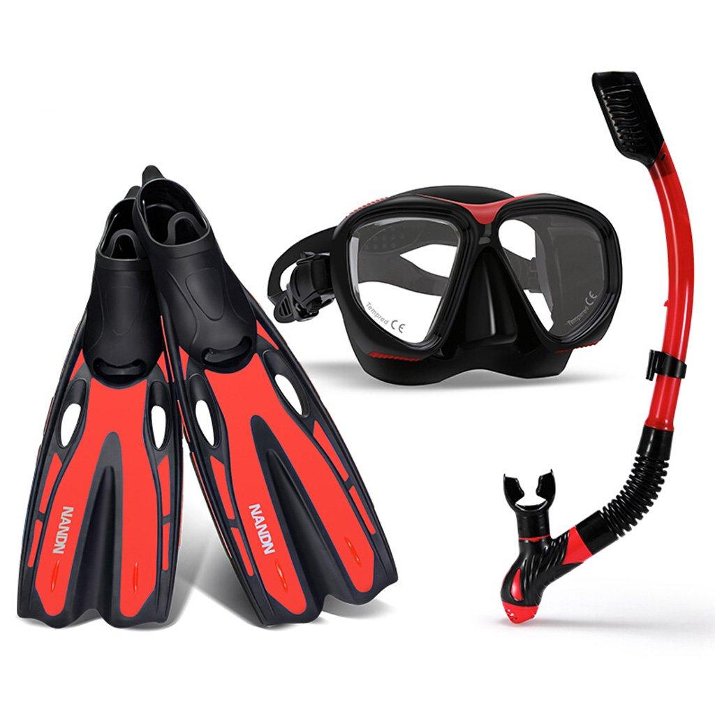 赤いアダルトダイビングシューズスキューバダイビングスイミングスノーケリングダイビングにスイミングサーフィン2サイズオプション US 6.5-7  B07F5NM1V4