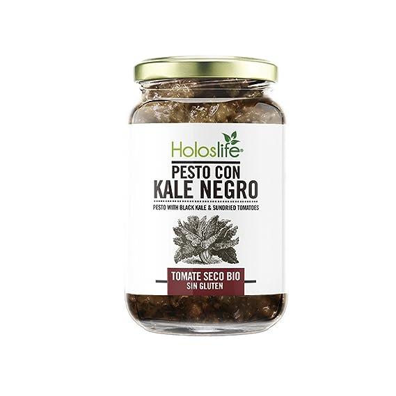 Holoslife Pestos con Kale Negro y Tomate Seco - 6 Paquetes de 130 gr - Total