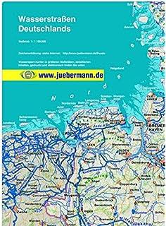Karte Der Wasserstrassen Deutschland Und Beneluxlander Amazon De