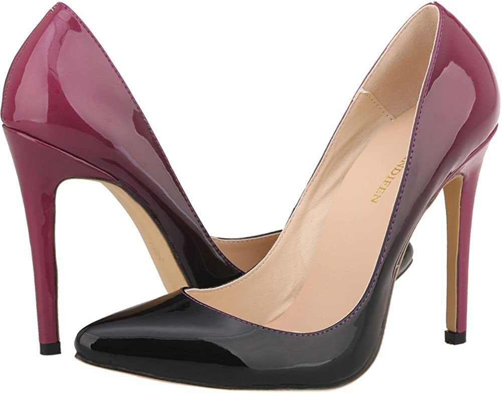 red Ombre Stiletto high Heels Size