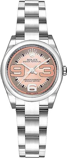Rolex Oyster Perpetual de la mujer esfera rosa 26 mm Reloj 176200