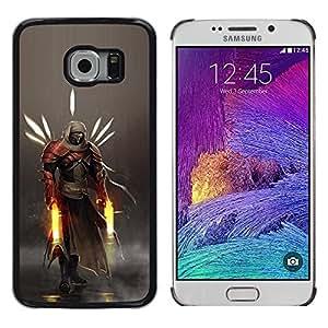 LECELL--Funda protectora / Cubierta / Piel For Samsung Galaxy S6 EDGE -- Héroe Guerrero --
