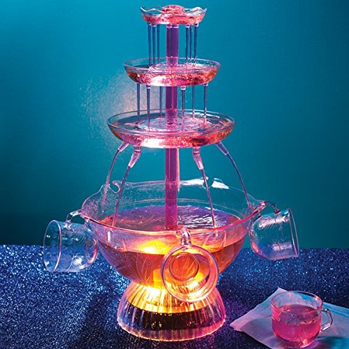 Light Up Party Fountain - includes Five 6-oz. Cups Wedding Punch Fountain