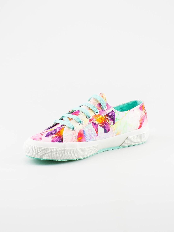 Superga 2750-fabricw Bahamas–Chaussures pour Femme - Multicolore - Multicolore - Fuchsia/Violet (F04 Tropicalfuxia-Violet), 40 EU