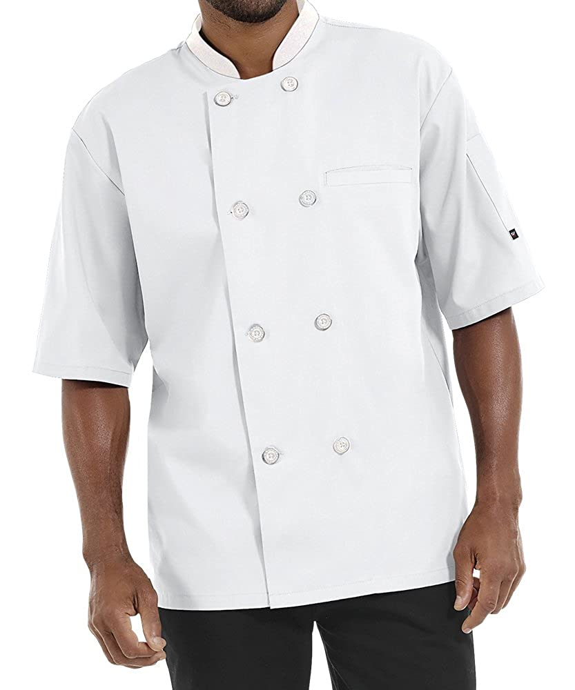 Men's Lightweight Short Sleeve Chef Coat (S-5X, 3 Colors)