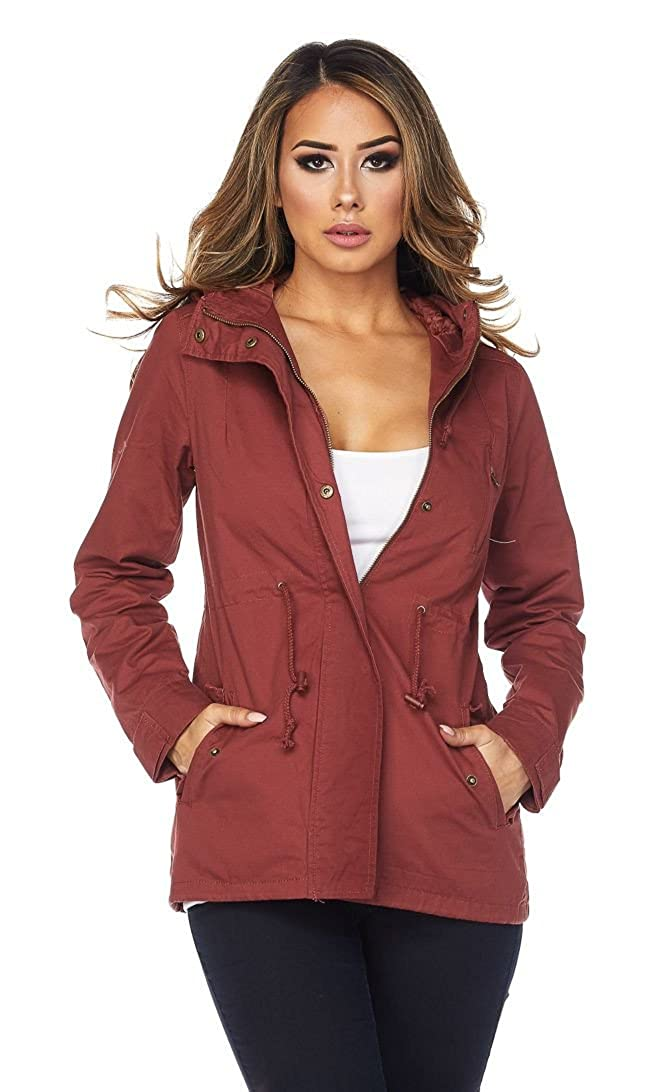 SOHO GLAM Hooded Parka Coat in Rust (Plus Sohogirl.com HODPRKARUST