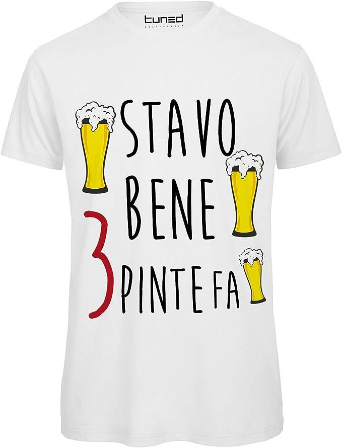 T-Shirt Divertente Donna Maglia con Stampa Ironica Frequento Solo Gente per Bere Tuned CHEMAGLIETTE