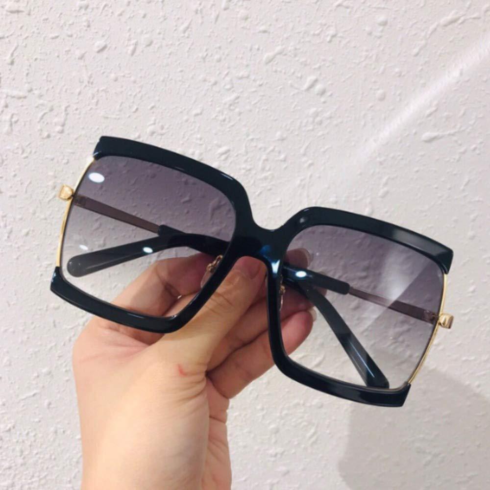MALAYYJ Occhiali da Sole Quadrati Oversize per Donna Occhiali da Sole///Semi-Rimless Grandi Sfumature Femminili